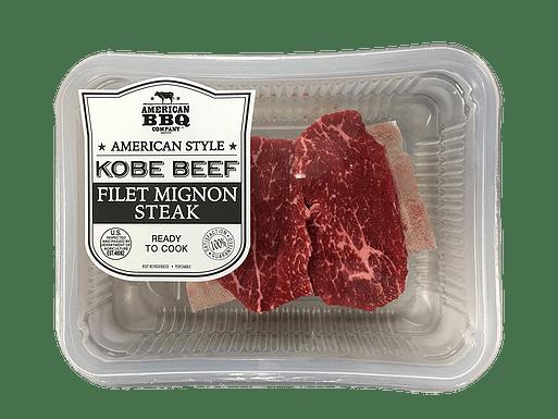 kobe beef filet mignon steak